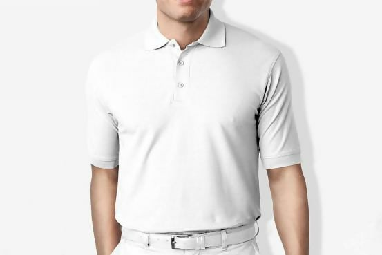 White Polo T-Shirt Template