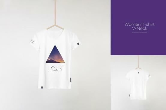 Men & Woman Hanging T-shirt Template