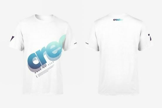 Men's White T-shirt Template Set