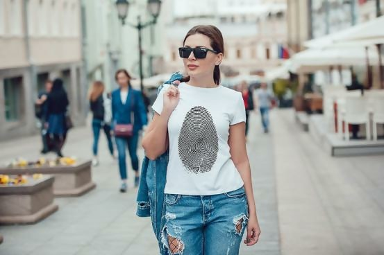 White T-Shirt Template For Women Vol.8
