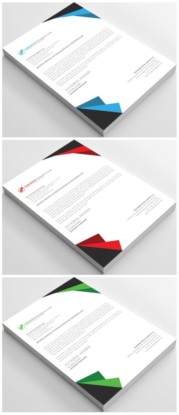 25 Free Letterhead Design Templates PSD Word Doc