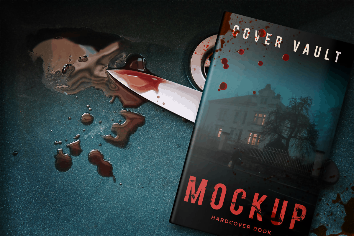 Horror Murder Book Mockup