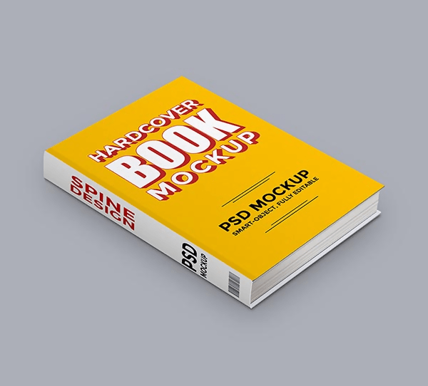 Hard Book PSD Mockup