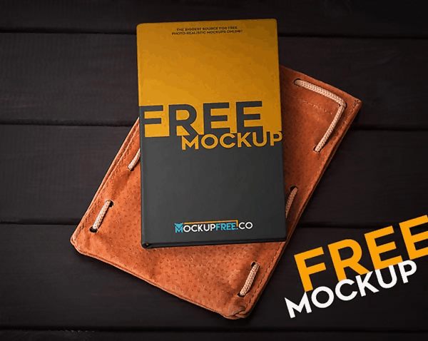 Free Realistic Notebook Mock-Up in Autumn Scenery