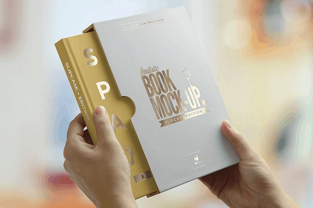 PSD Slip Case Edition Book Mockup