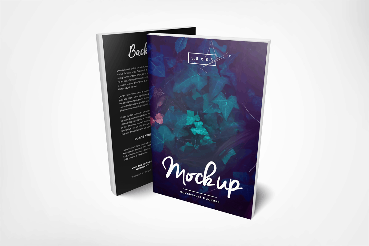 Paperback Front and Back Book Mockup