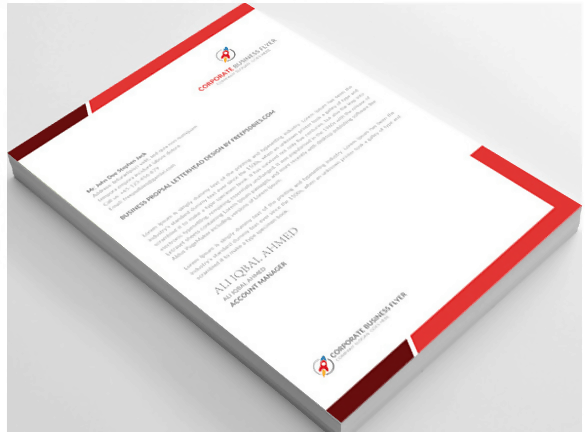 Free PSD Letterhead Template for Corporates