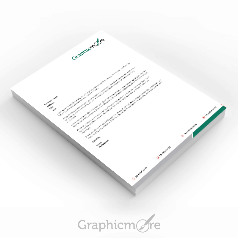 Green Corporate Letterhead Design
