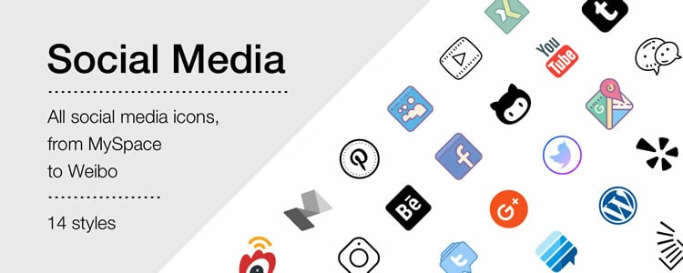 Social Media Icons from Icons8