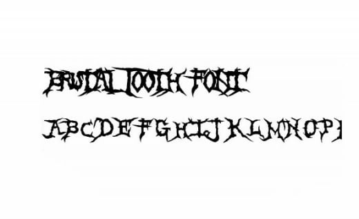 Brutal Tooth Zombie Font