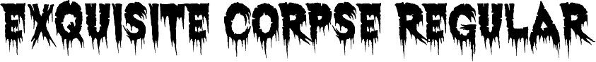 Exquisite Corpse Zombie Font