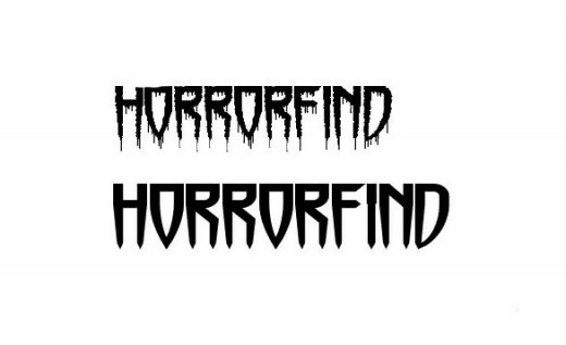 Horrorfind and Horrormaster Font