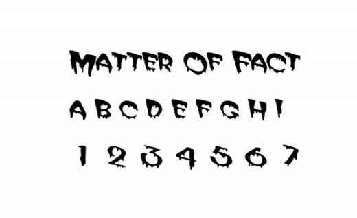 Matter of Fact Zombie Font