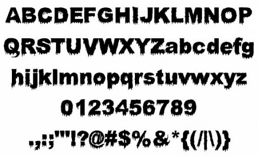 Bloody Stump Zombie Font