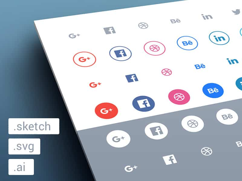 48 Social Icons .sketch