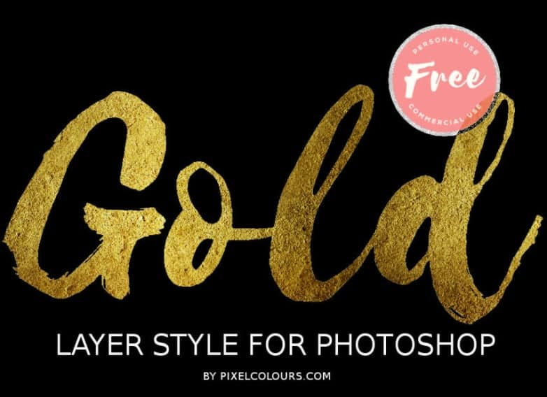 Gold Photoshop Layer Style (FREE)