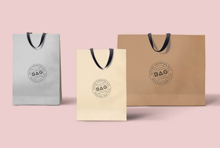 Free Shopping Bags PSD Template