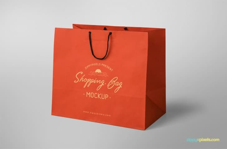 Free Shopping Bag Mockup (Simple and Appealing)
