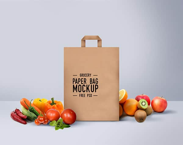 Free Shopping Bag Grocery Type Mockup