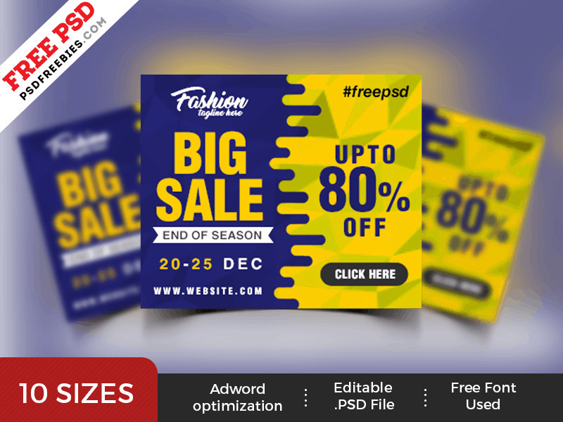 Big Sale PSD Template