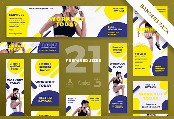Workout Banner Pack