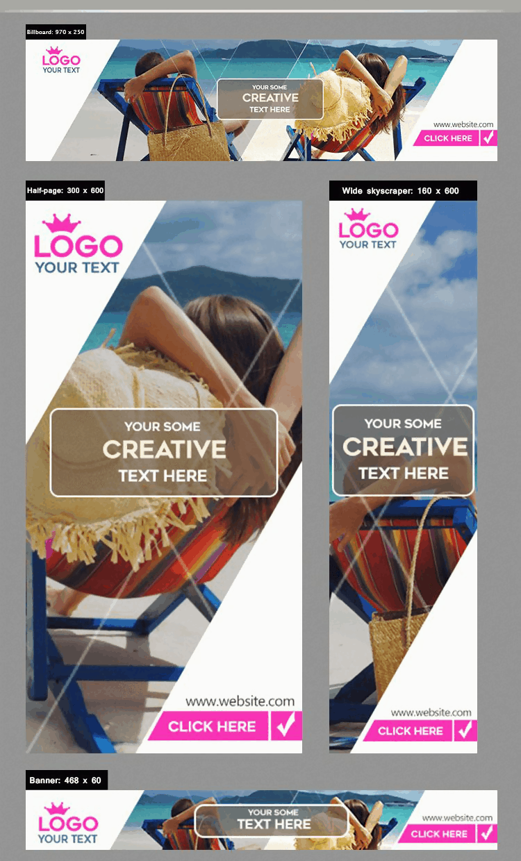 Creative Banner in PSD