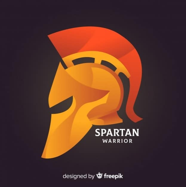 Classic Spartan Helmet with Gradient Styling