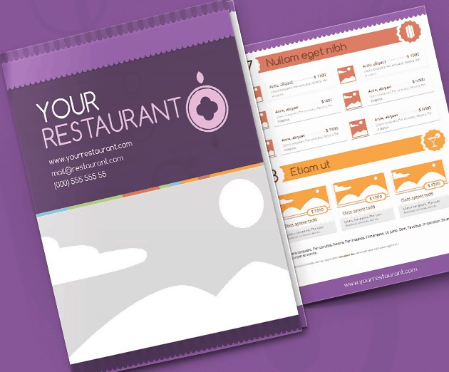 Picnic Menu Template