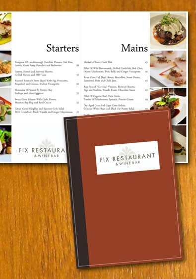 High-Class Restaurant Menu Template