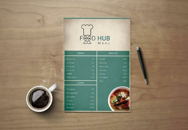 Free FoodHub Restaurant Menu