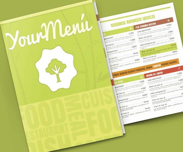 Vegetable Menu Template