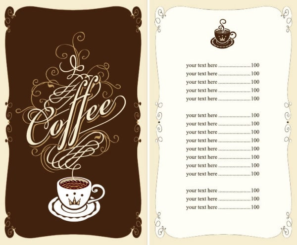 Menu Cover Template for Café and Restaurant