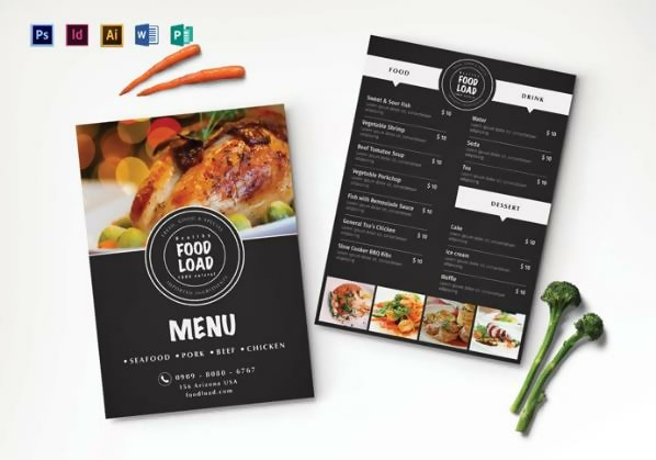50 Free Restaurant Menu Templates Psd