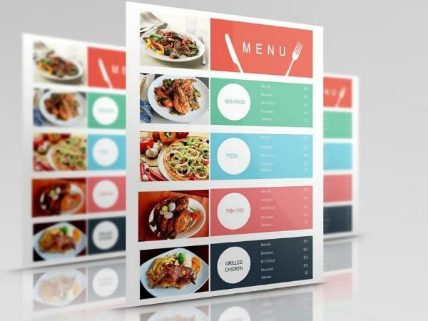 Free Food Court Menu Template