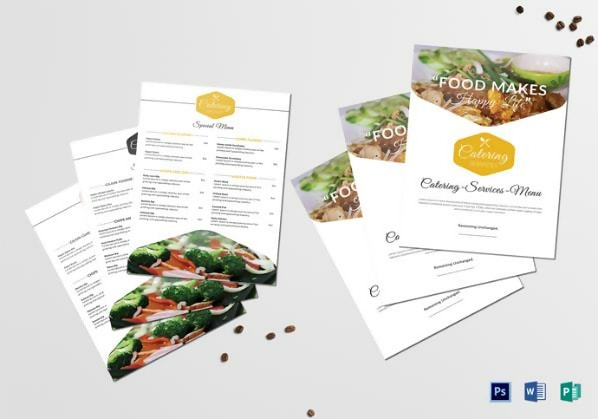 Free Food Catering Service Menu Template