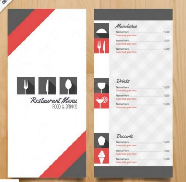 Free Lightweight Restaurant Menu Template