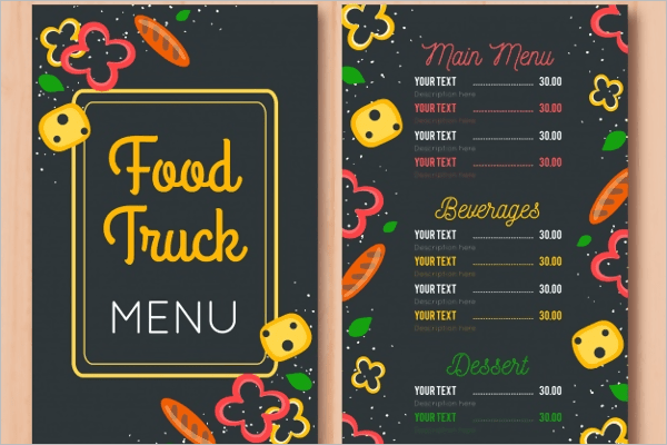 Multicolour Restaurant Menu Template