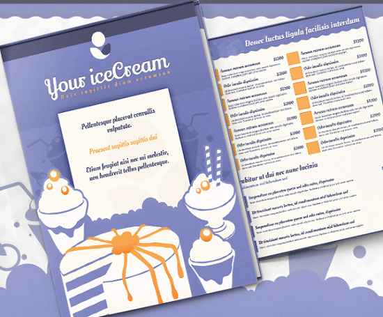 Ice Cold Menu Template