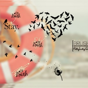 Flying Birds Brushes by Pretty Lady Swag