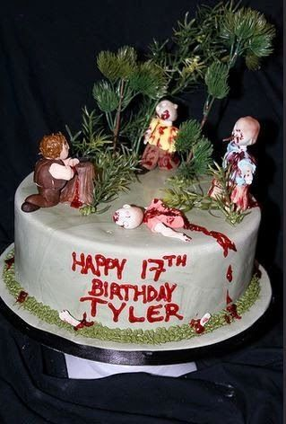 Strange 30 Best Zombie Cakes Designs For Inspiration Personalised Birthday Cards Veneteletsinfo