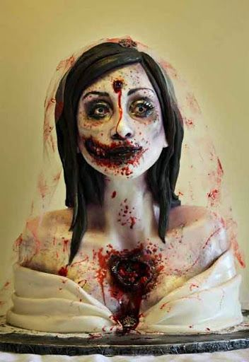 Bride Zombie Birthday Cake