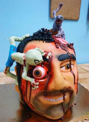 Big Head Zombie Birthday Cake