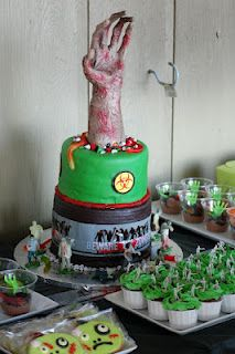 Zombie Party Cake