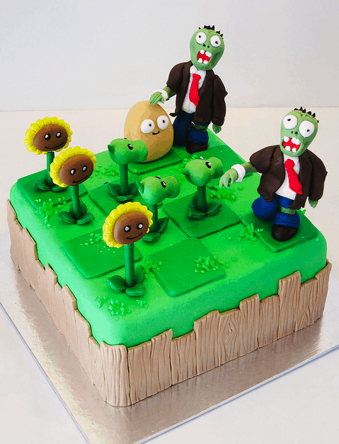 Plants Versus Zombies Zombie Birthday Cake