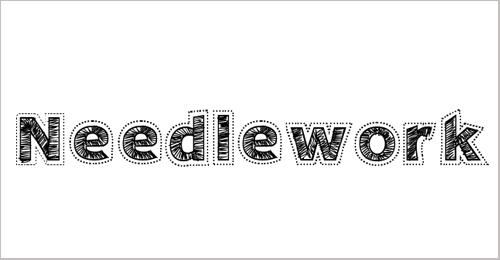 Needlework Perfect Font