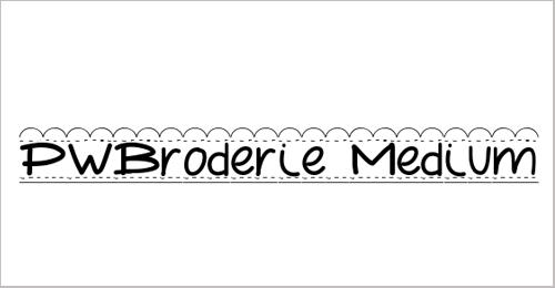 PWBroderie Font