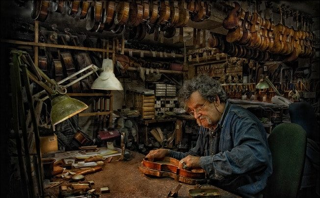 Repairman violin By Israel Fichman