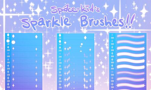 Space Kids Sparkle Brushes