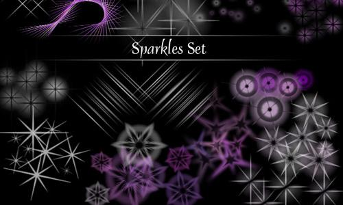 Photoshop Sparkle Brush Set
