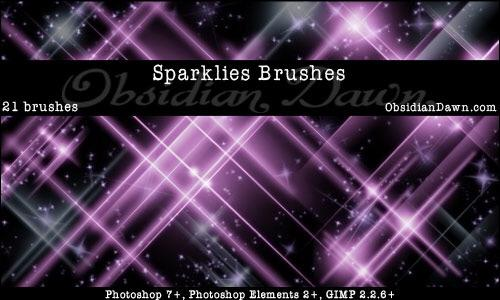 Sparklies Photoshop Brushes